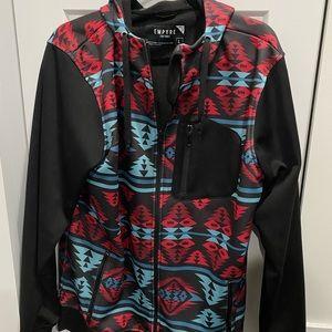 Boys patterned zip up jacket size large